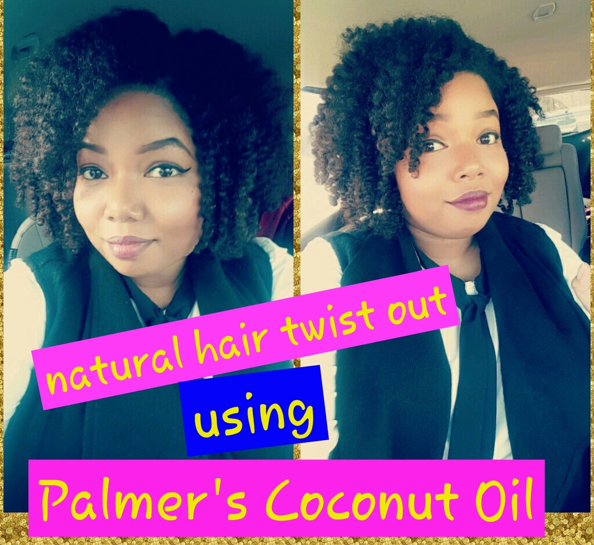 Natural Hair Twistout Using Palmer's CoconutOil+Review