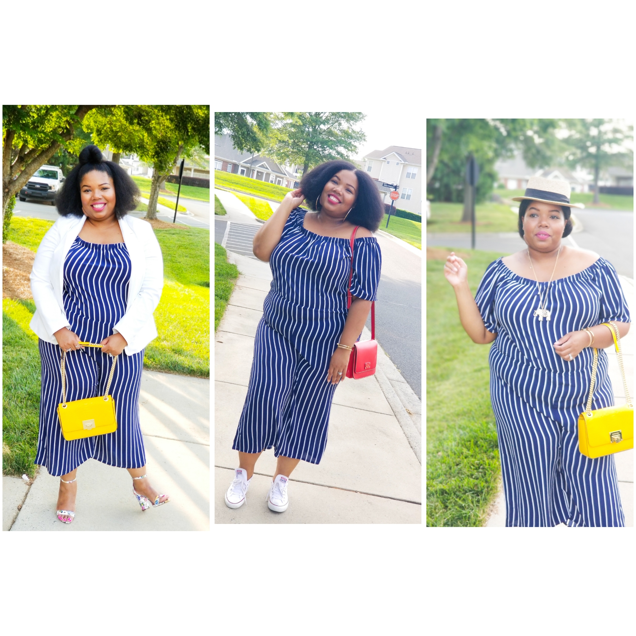 Spring Series: Style Me 3 Ways: Striped Jumpsuit