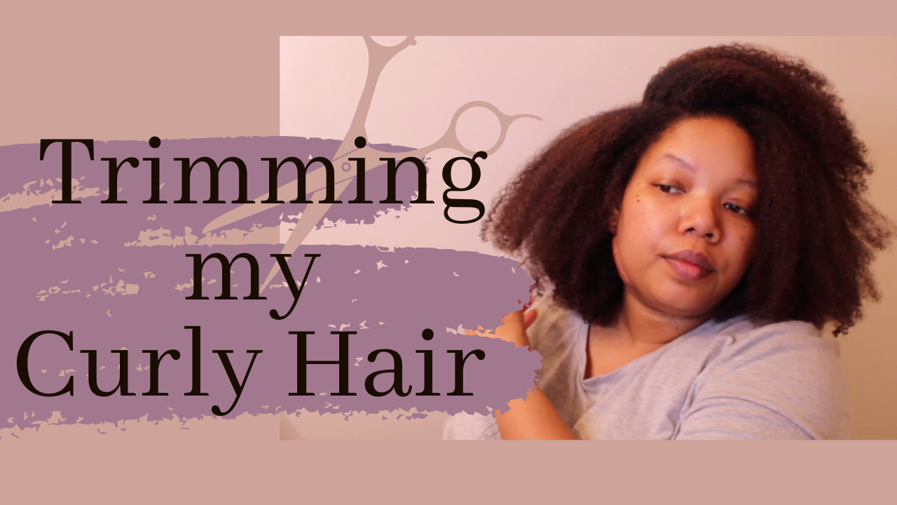 Postpartum Hair Update: Giving myself a Curly Cut|Stop Being a Lazy Natural!